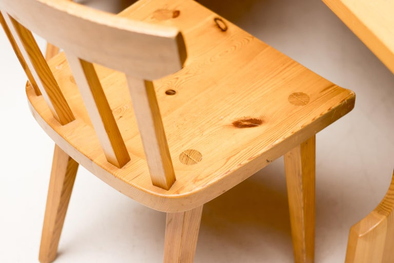 Pine Dining Set by Carl Malmsten In Good Condition For Sale In Dronten, NL