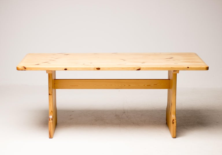 Pine Dining Set by Carl Malmsten For Sale 1