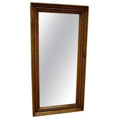 Pine Framed Rope Twist Mirror