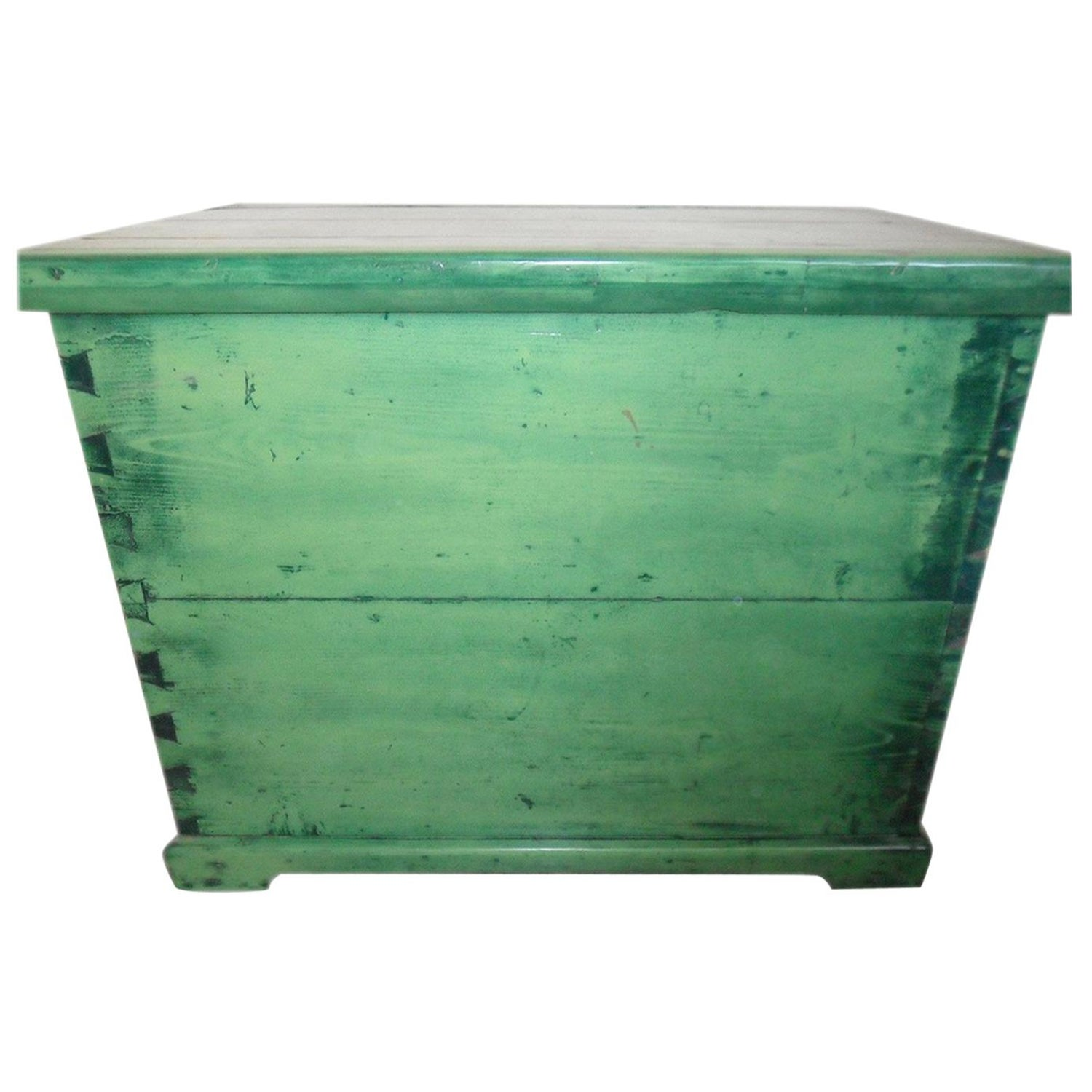 Pine green storage trunk hungarian for sale at 1stdibs