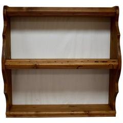 Pine Hanging Shelf or Plate Rack
