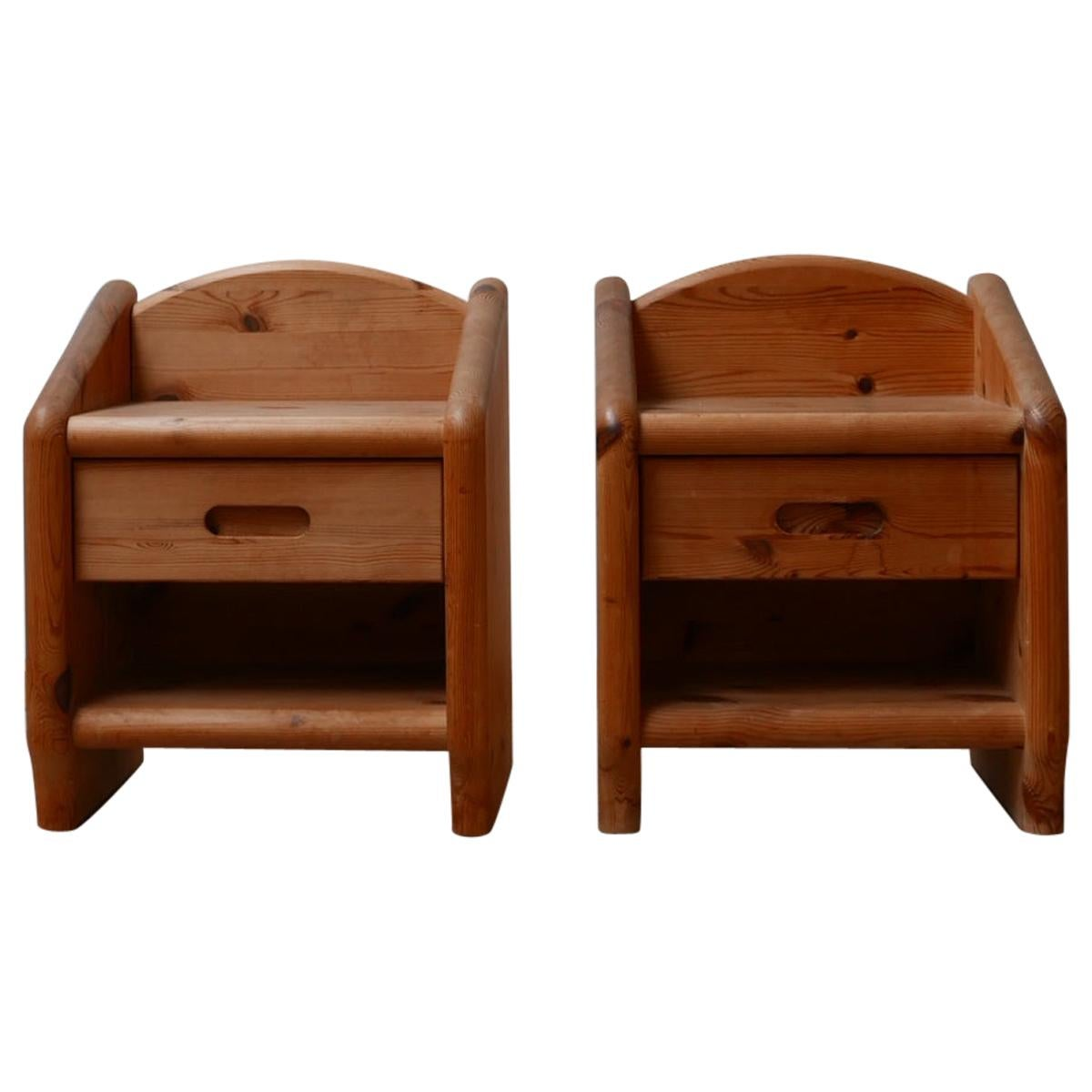 Pine Midcentury Bedside Tables