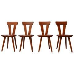 Pine Midcentury Dining Chairs by Wincze & Szlekys '4'
