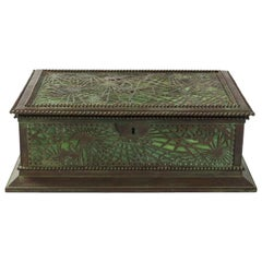"""Pine-Needle"" Covered Jewelry Box by Tiffany Studios, New York"