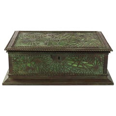 """Pine-Needle"" Covered Jewelry Box by Tiffany Studios, New York"