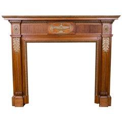 Pine Neoclassical Mantel