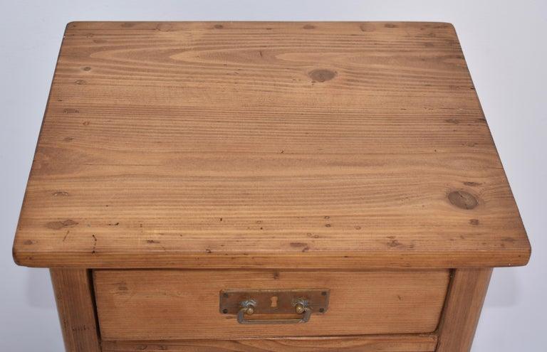 Polished Pine Nightstand For Sale