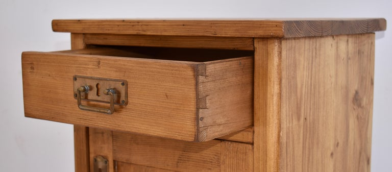 19th Century Pine Nightstand For Sale