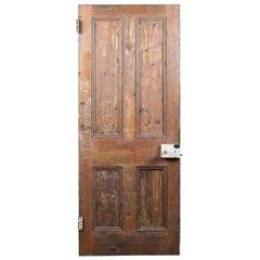 Pine Reclaimed Victorian Four Panel Door, 20th Century