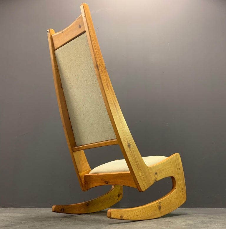 Late 20th Century Pine Rocking Chair by Designer Craftsman Jeremy Broun  For Sale