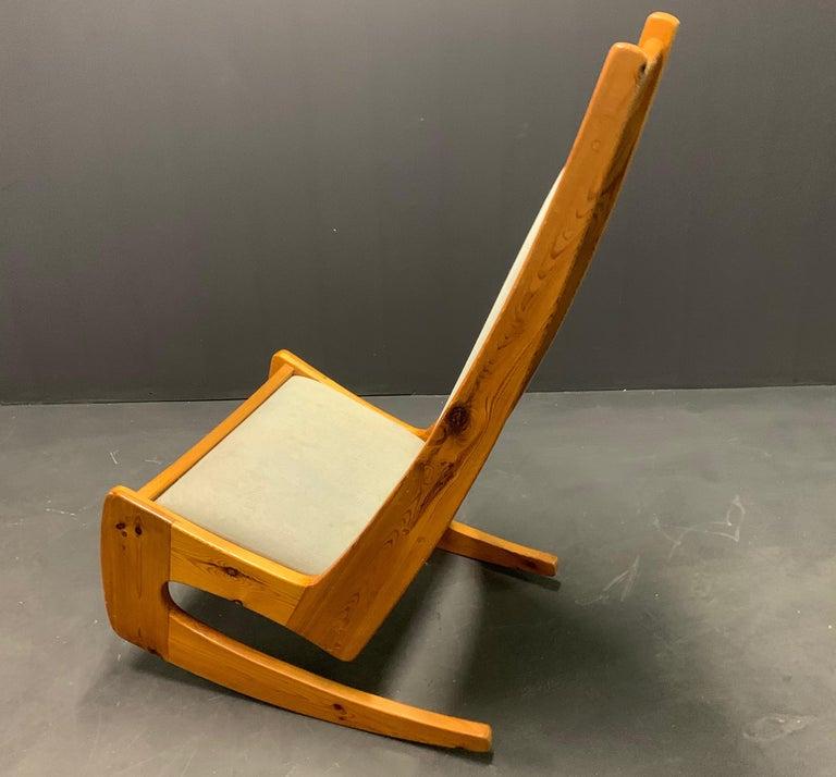 Pine Rocking Chair by Designer Craftsman Jeremy Broun  For Sale 1