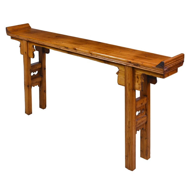 Qing Elm and Pine Shanxi Altar Table, China, 20th Century For Sale