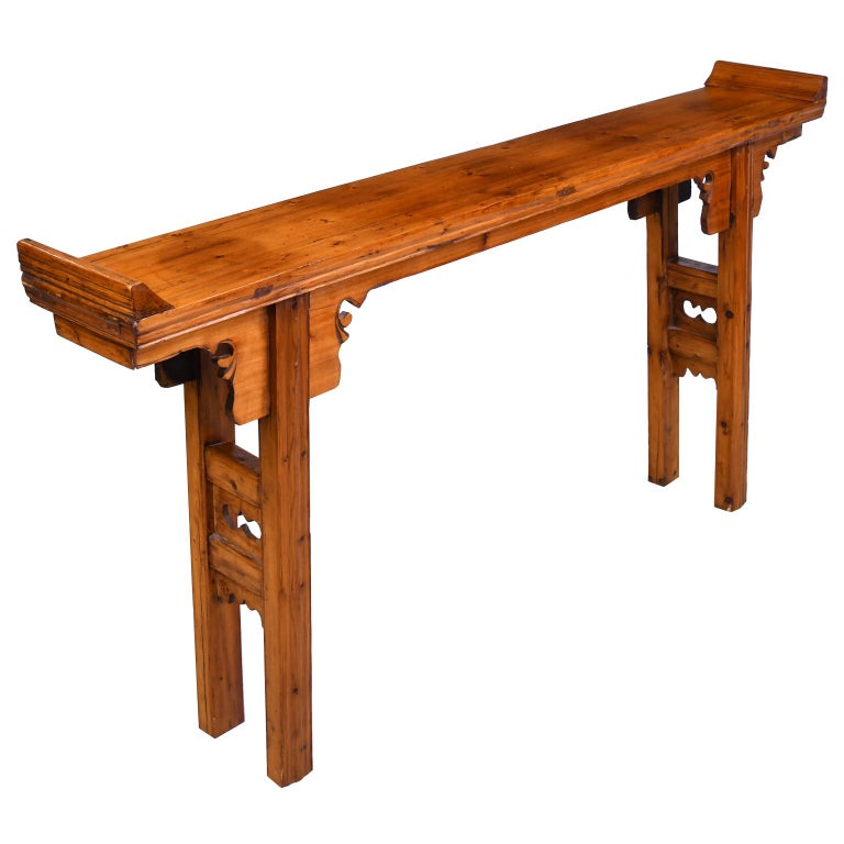 Elm and Pine Shanxi Altar Table, China, 20th Century In Good Condition For Sale In Miami, FL