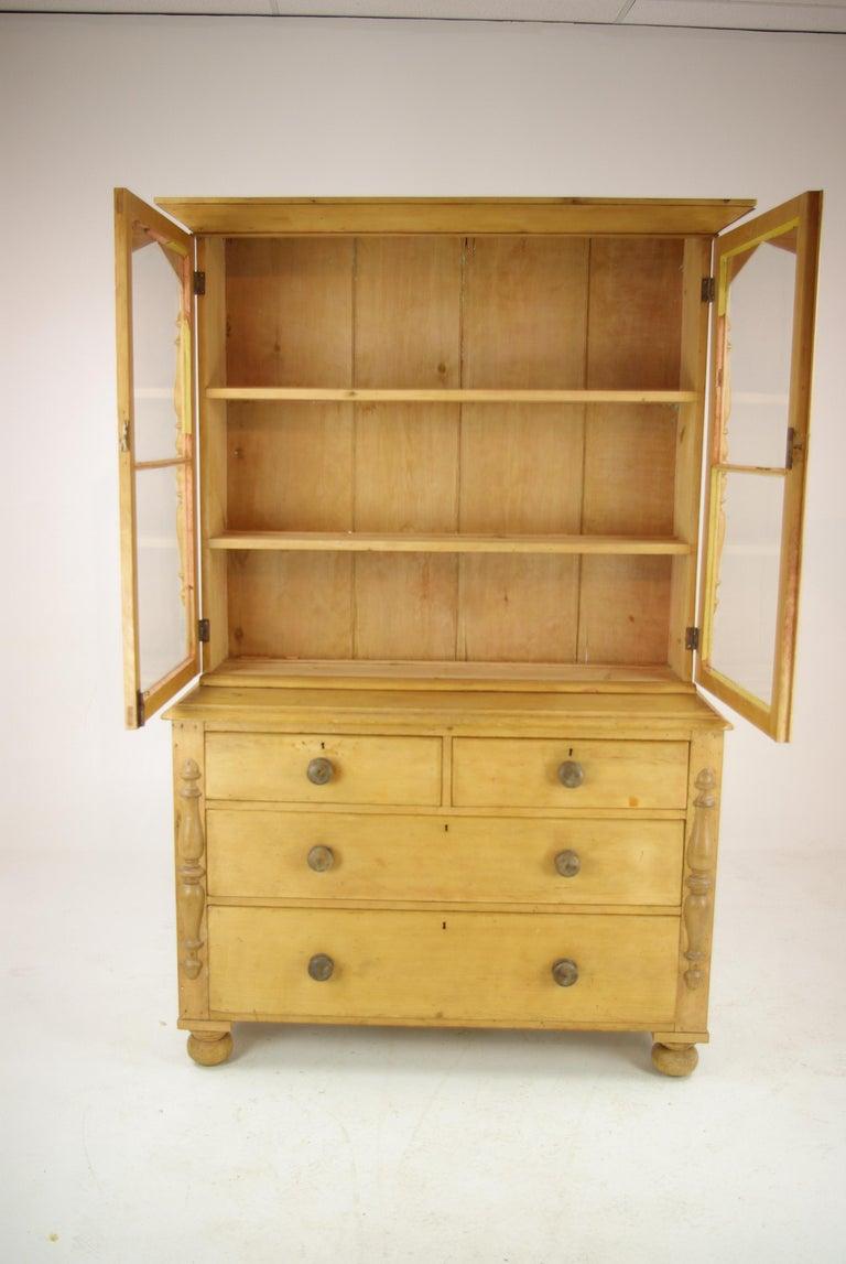 Pine Sideboard Antique Hutch Farmhouse Kitchen 1860 Antique Furniture B1294