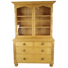 Pine Sideboard, Antique Hutch, Farmhouse Kitchen, 1860, Antique Furniture, B1294