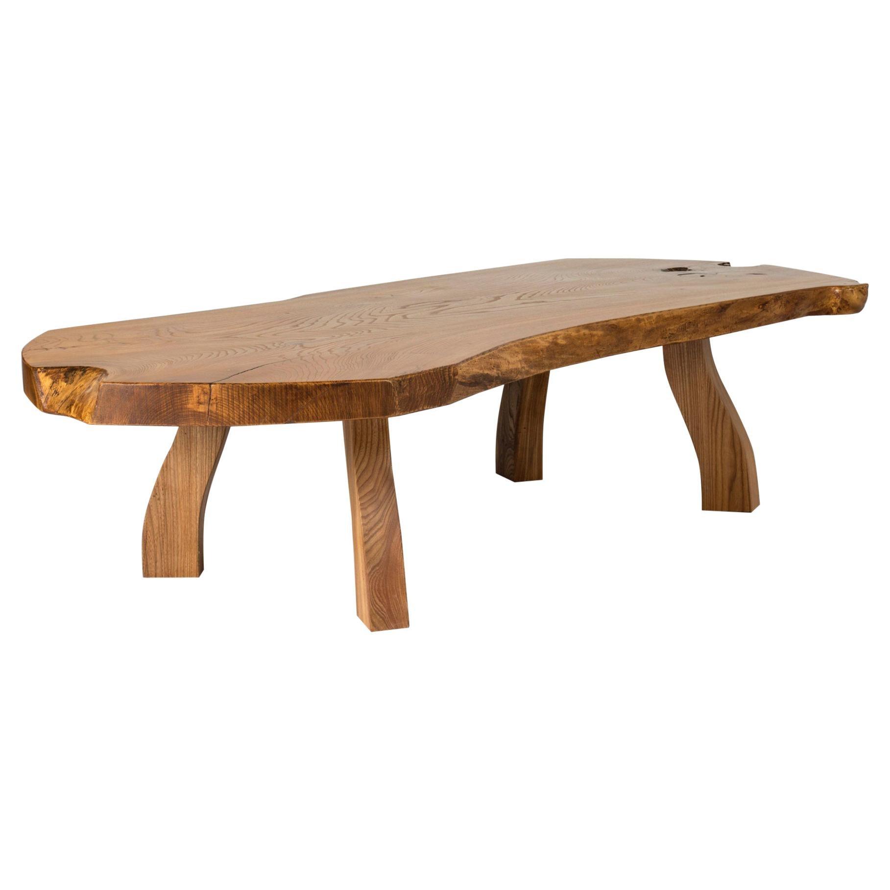 Pine Slab Coffee Table from Carl-Axel Beijbom