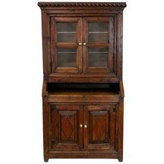 Pine Step Back Cupboard