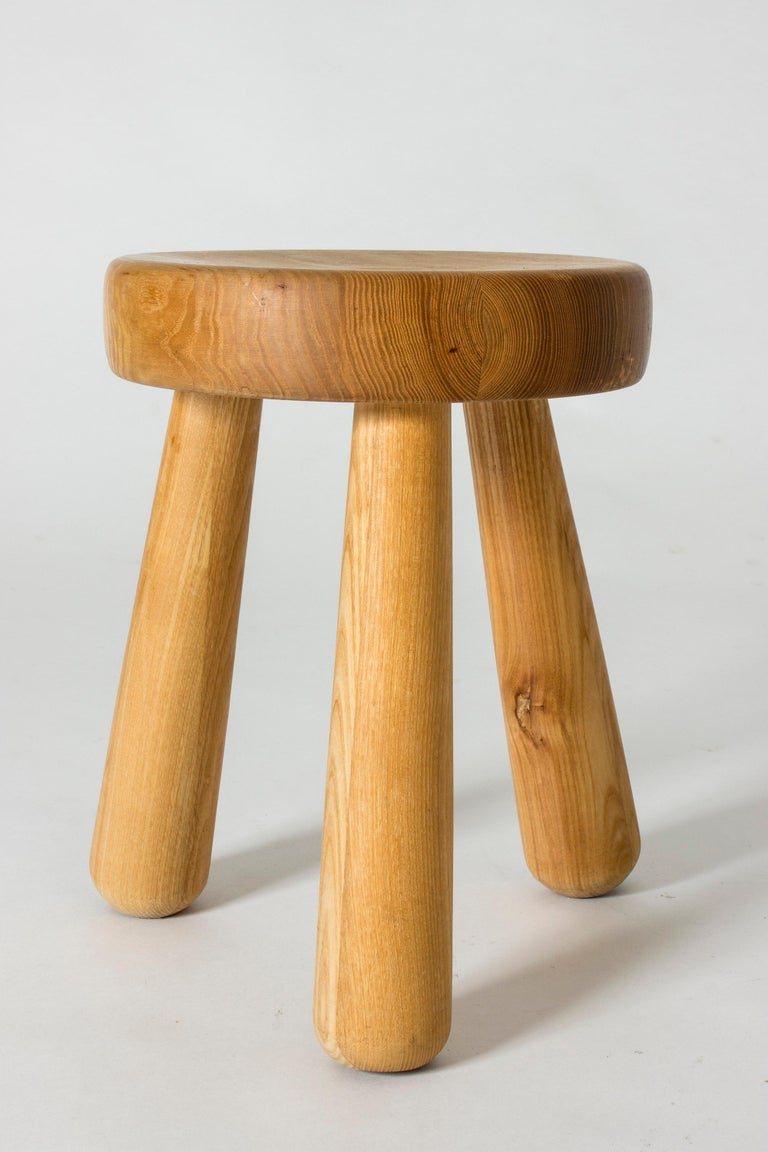 Scandinavian Modern Pine Stool by Ingvar Hildingsson For Sale