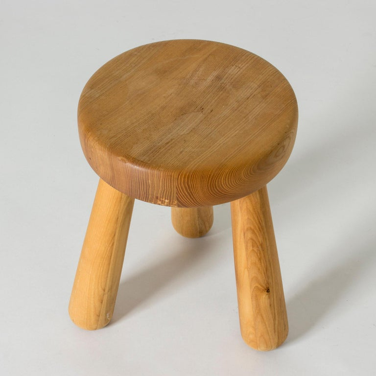 Swedish Pine Stool by Ingvar Hildingsson For Sale
