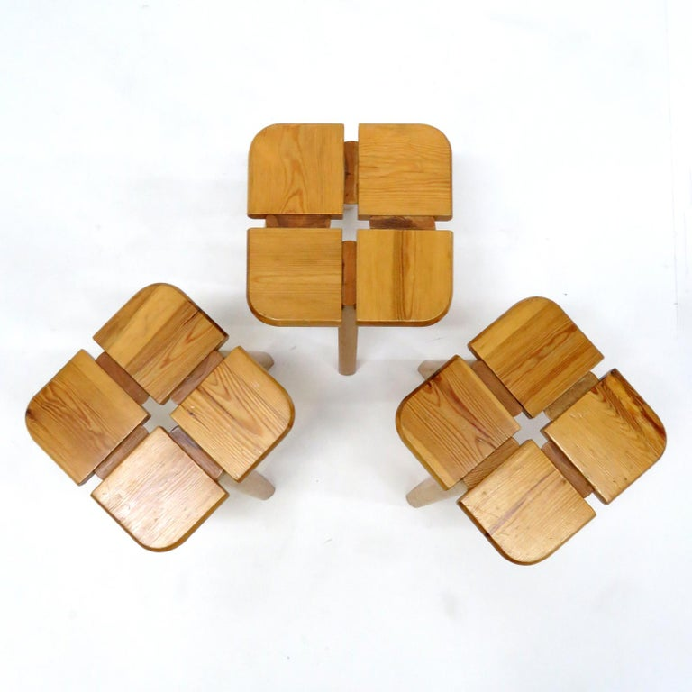 Finnish Pine Stools Finland, 1960 For Sale