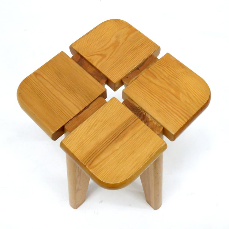 Pine Stools Finland, 1960 For Sale 1