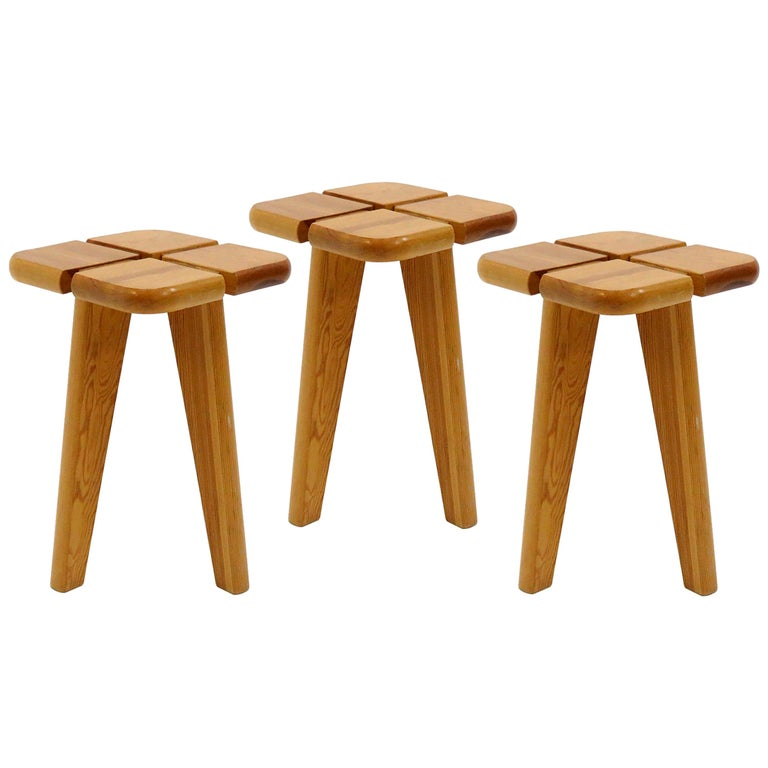 Pine Stools Finland, 1960 For Sale