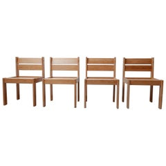 Pine Swedish Mid-Century Set of Dining Chairs