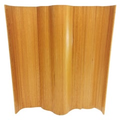 Pine Tambour Room Divider / Screen in the Manner of Aalto by Habitat, 1980s