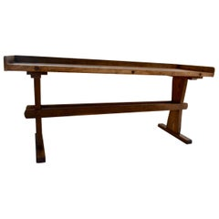 Pine Trestle-Based Work Table