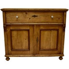 Pine Two-Door Dresser Base
