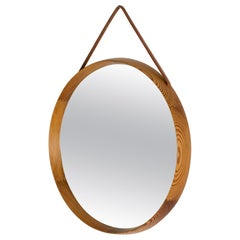 Pine Wall Mirror by Uno and Östen Kristiansson