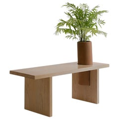 """Pine Wood Geometrical Bench """"Bench Three Small"""" by Omar Wade"""