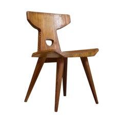 Pine Wooden Chair by Jacob Kielland Brandt 1960 Scandinavian Modern