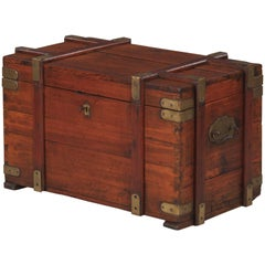 Pine Wooden Trunk or Blanket Chest from Germany, 1930s