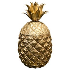Pineapple Ice Bucket Designed by Mauro Manetti, Gilt Plated, circa 1960