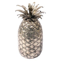 Pineapple Ice Bucket Designed by Mauro Manetti, Silver Plated, Italy, 1960's