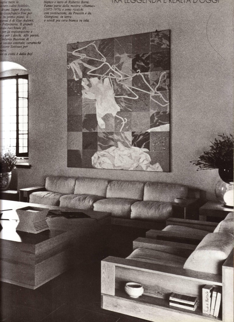 Pinewood and Mohair Lounge Chairs and Table by Gianfranco Fini, Poltronova, 1974 1