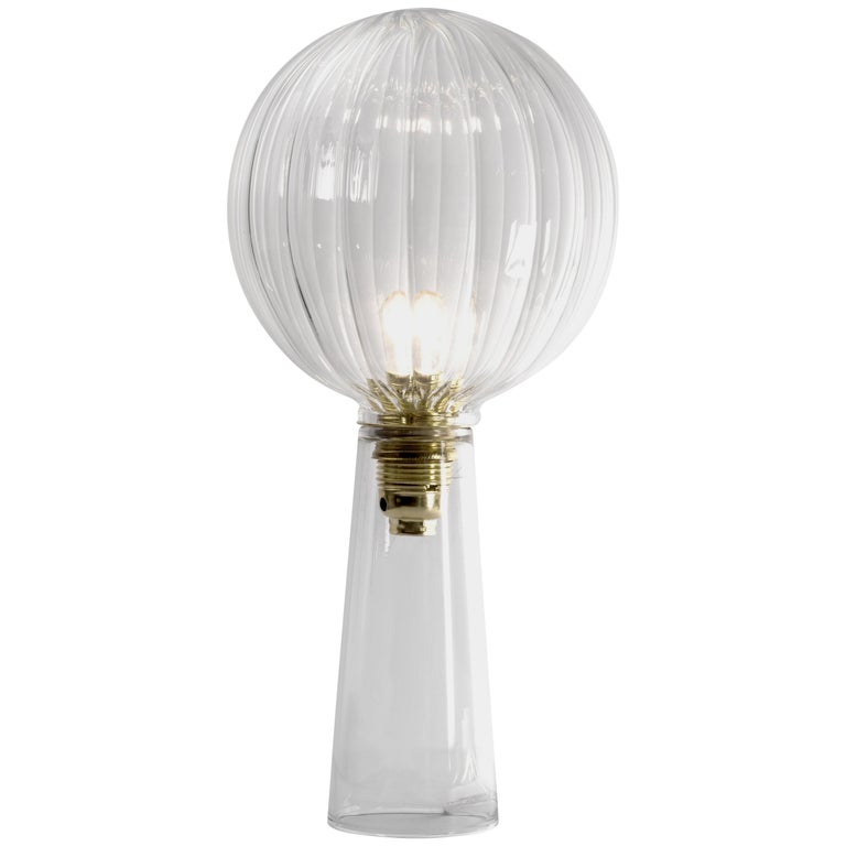 """Ping"" Contemporary Blown Glass Table Lamp, in Stock For Sale"