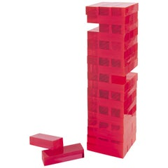 Pink Acrylic Tumble Tower Game