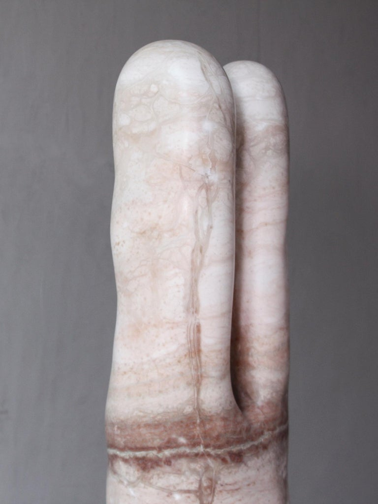 Pink Alabaster Sculpture by Julian Watts In New Condition For Sale In New York, NY
