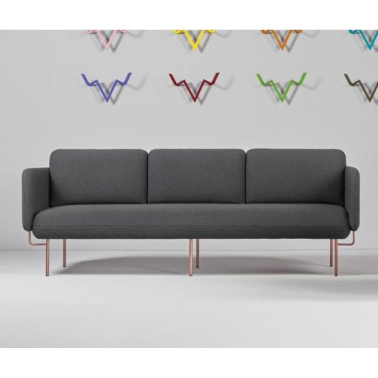 Pink Alce Sofa, Small by Chris Hardy For Sale 3