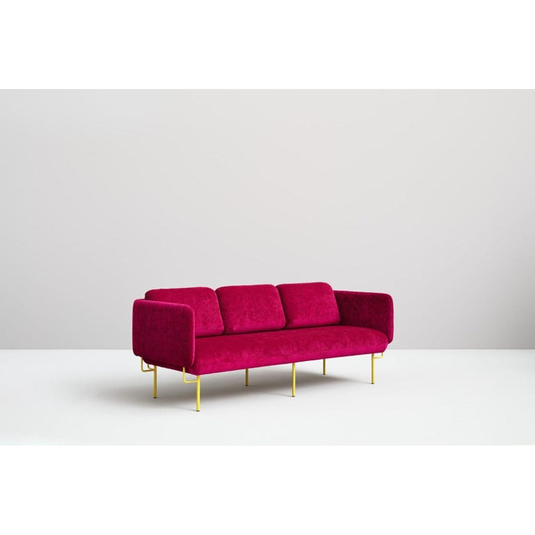 Spanish Pink Alce Sofa, Small by Chris Hardy For Sale