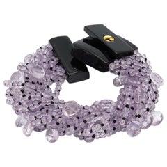 Pink Amethyst Multistring Bracelet