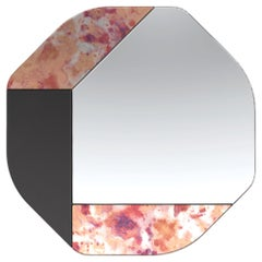 Pink and Black WG.C1.B Hand-Crafted Wall Mirror