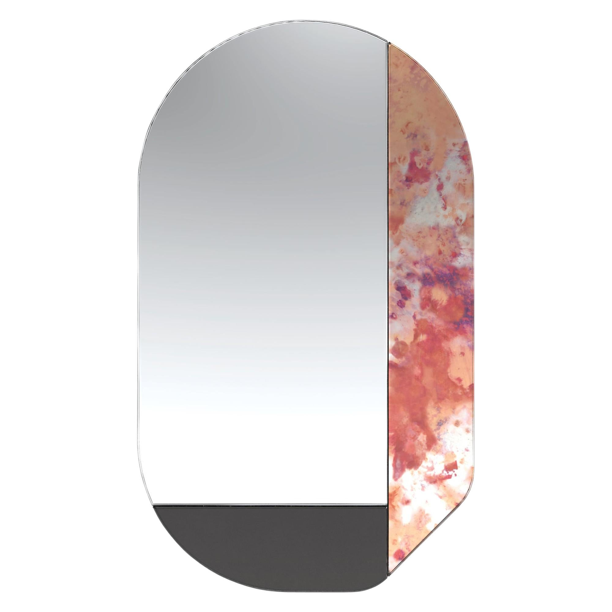 Pink and Black WG.C1.G Hand-Crafted Wall Mirror