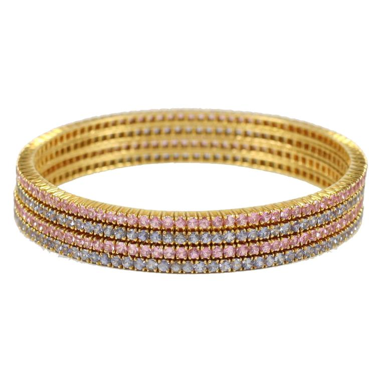 Pink and Blue Sapphire Bangles For Sale