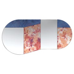 Pink and Blue WG.C1.C Hand-Crafted Wall Mirror