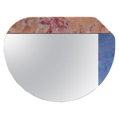 Pink and Blue WG.C1.E Hand-Crafted Wall Mirror