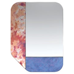 Pink and Blue WG.C1.F Hand-Crafted Wall Mirror