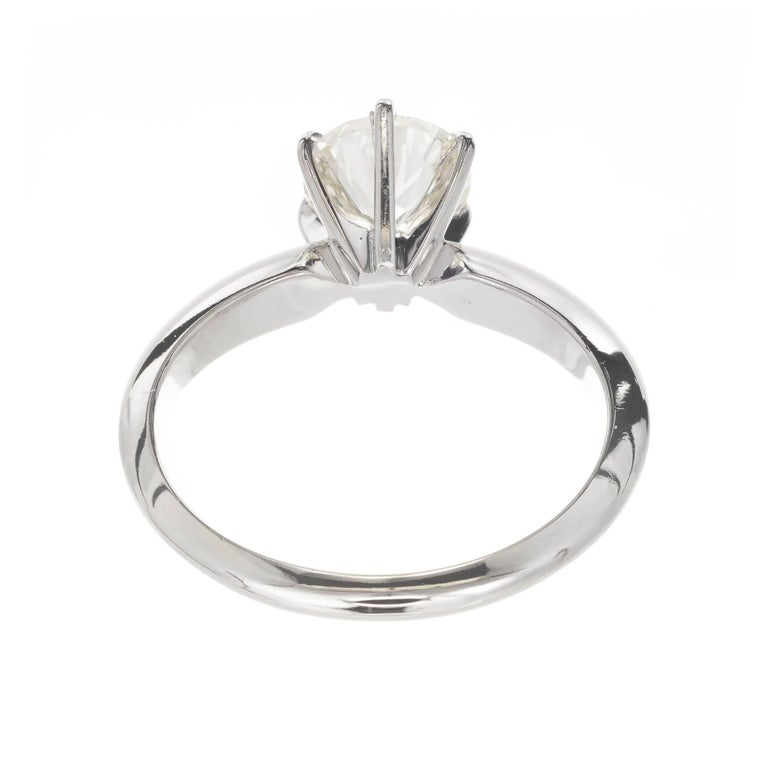 1.00 Carat Diamond White Gold Solitaire Engagement Ring In Good Condition For Sale In Stamford, CT
